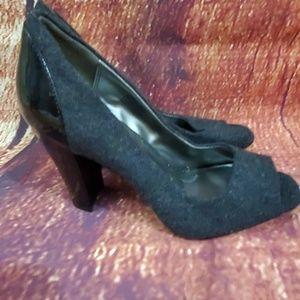 Andrew Geller Gray Black Laddie Heels